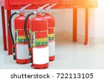 fire extinguisher and fire hose ... | Shutterstock . vector #722113105