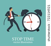 stop time concept. business... | Shutterstock .eps vector #722114521