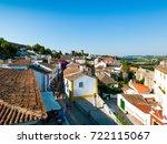 obidos  leiria district  center ... | Shutterstock . vector #722115067