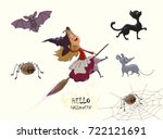 set of characters for halloween.... | Shutterstock .eps vector #722121691