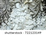 vintage thai sculpture on stone ... | Shutterstock . vector #722123149