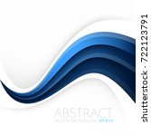 blue turquoise line curve... | Shutterstock .eps vector #722123791