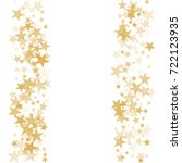 gold flying stars confetti... | Shutterstock .eps vector #722123935