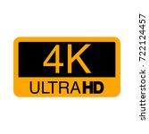 logo 4k ultra hd. vector... | Shutterstock .eps vector #722124457