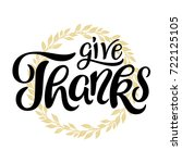 give thanks lettering with... | Shutterstock .eps vector #722125105