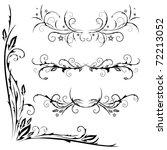 vector set of patterns for... | Shutterstock .eps vector #72213052