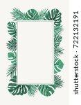 rectangular border frame... | Shutterstock .eps vector #722132191