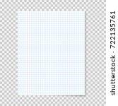 realistic school notebook paper....   Shutterstock .eps vector #722135761