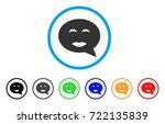 lady pleasure smiley message... | Shutterstock .eps vector #722135839