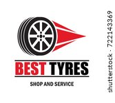 tyre   tire logo  emblems and... | Shutterstock .eps vector #722143369