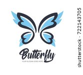 Stock vector abstract butterfly logo template simple vector logo illustration 722143705