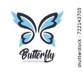 abstract butterfly logo... | Shutterstock .eps vector #722143705