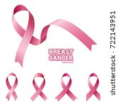 icon pink ribbon  breast cancer ... | Shutterstock .eps vector #722143951