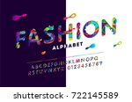 fashion stylized alphabet with... | Shutterstock .eps vector #722145589