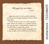 old paper background in vector. | Shutterstock .eps vector #722148655