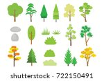 nature elements  trees and... | Shutterstock .eps vector #722150491