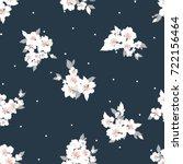 vector flowers pattern ... | Shutterstock .eps vector #722156464