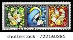 malta   circa 1996  a stamp... | Shutterstock . vector #722160385
