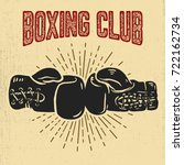 boxing club. boxing gloves on... | Shutterstock .eps vector #722162734