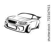 Stock vector sport car race car vector 722167411