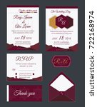 wedding invitation   save the... | Shutterstock .eps vector #722168974