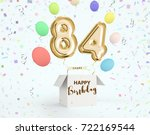 happy birthday 84 years... | Shutterstock . vector #722169544