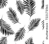 vector black and white palm... | Shutterstock .eps vector #722173561