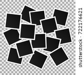 set of square vector photo... | Shutterstock .eps vector #722176621
