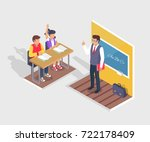 two students boy and girl... | Shutterstock .eps vector #722178409