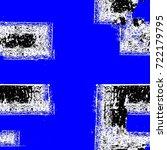 grunge blue seamless pattern.... | Shutterstock . vector #722179795