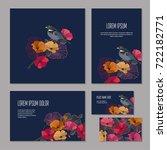 set floristic elements of... | Shutterstock .eps vector #722182771