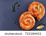 delicious mouth watering german ... | Shutterstock . vector #722184421