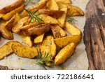 homemade french fries with... | Shutterstock . vector #722186641