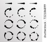 set of vector circular arrows.... | Shutterstock .eps vector #722186899