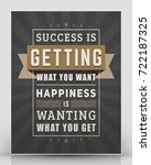 vintage inspirational and... | Shutterstock .eps vector #722187325