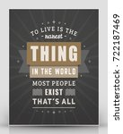 vintage inspirational and... | Shutterstock .eps vector #722187469