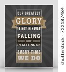 vintage inspirational and... | Shutterstock .eps vector #722187484
