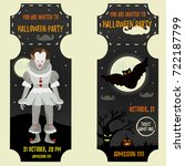 halloween invitation template... | Shutterstock .eps vector #722187799