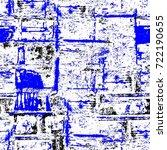 grunge blue seamless pattern.... | Shutterstock . vector #722190655