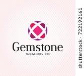 gemstone sphere logo design... | Shutterstock .eps vector #722192161