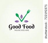 good food healthy logo design... | Shutterstock .eps vector #722192371