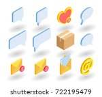 simple set of web icons in flat ... | Shutterstock .eps vector #722195479