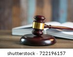 law and justice theme image | Shutterstock . vector #722196157