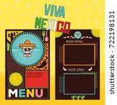 mexican menu template | Shutterstock .eps vector #722198131