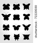 set butterfly | Shutterstock .eps vector #72220030