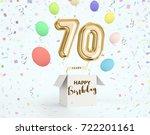 happy birthday 70 years... | Shutterstock . vector #722201161