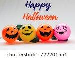 happy halloween wording with... | Shutterstock . vector #722201551