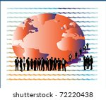 globe and business people | Shutterstock .eps vector #72220438