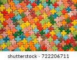 colorful cross mosaic wall... | Shutterstock . vector #722206711