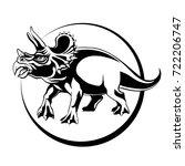 silhouette sketch herbivorous... | Shutterstock .eps vector #722206747